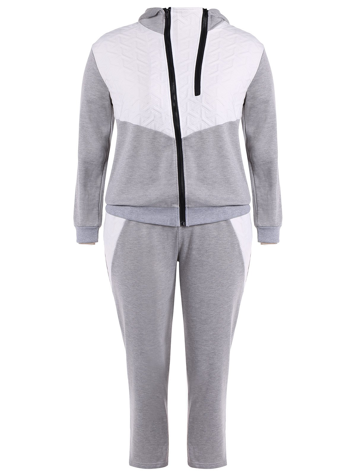 Zip Up Hoodie Avec Pantalon Twinset - Gris 3XL