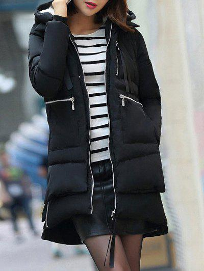 Hooded Puffer Coat - BLACK M