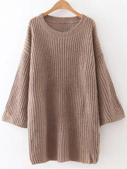 Loose Casual Sweater DressWomen<br><br><br>Size: ONE SIZE<br>Color: BROWN