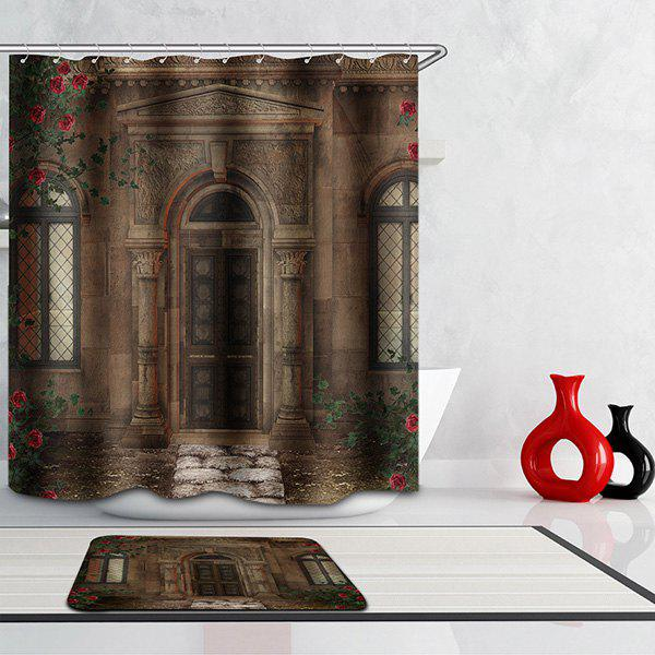 Mouldproof Waterproof Door Printed Shower Curtain waterproof mouldproof love birds printed shower curtain