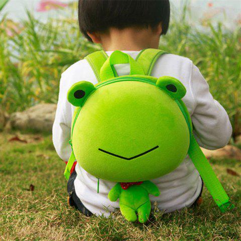 3D Cartoon Pet Shape Hard Cover Kid Backpack - GREEN