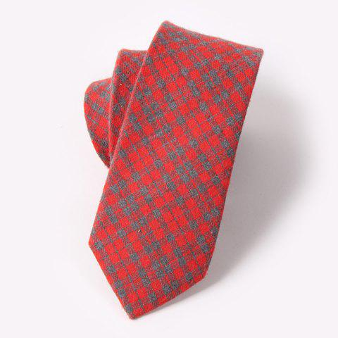 Casual Scottish Tartan Pattern 6.5CM Width Tie - RED