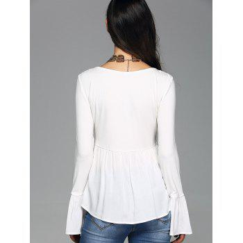 Bell a manches Scoop Neck Tee - Blanc M