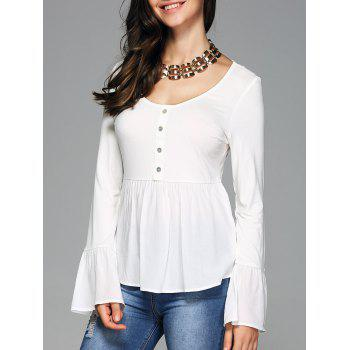 Bell Sleeve Scoop Neck Tee