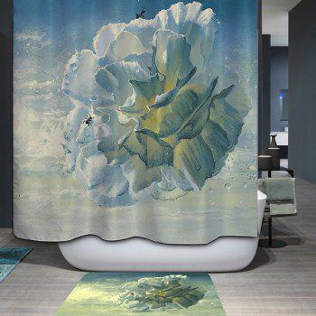 Mouldproof Waterproof Flower Type Printed Shower Curtain - COLORMIX COLORMIX
