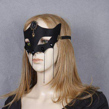 Heart Fox Elastic Hair Band Halloween Mask -  BLACK