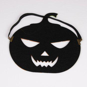 Elastic Hair Band Halloween Pumpkin Mask -  YELLOW