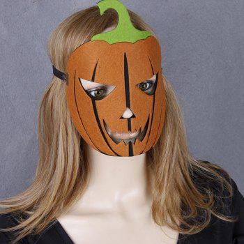 Elastic Hair Band Halloween Pumpkin Mask - YELLOW YELLOW