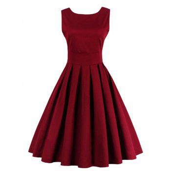 Zipper Fit and Flare Dress