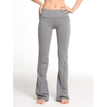 Boot Cut Contrast-Trim Elastic Gym Pants
