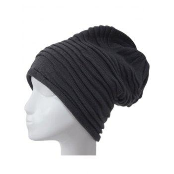 Winter Casual Ruched Knitted Hat