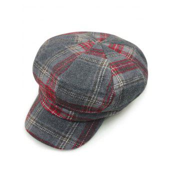 Autumn Big Tartan Newsboy Hat
