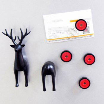 6Pcs/Pack Multifunction Cartoon Sika Deer Powerful Fridge Magnet - BLACK BLACK
