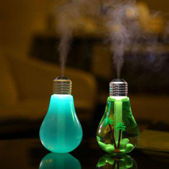 Novelty USB 7 Colors Change Bulb Design Humidifier -  COLORMIX