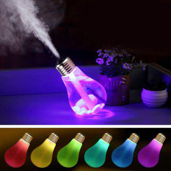Novelty USB 7 Colors Change Bulb Design Humidifier - COLORMIX COLORMIX