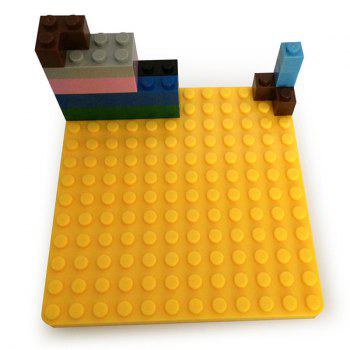 4 Pièces / Set Creative silicone bricolage Building Blocks assemblé Tapis Coupe - multicolorcolore
