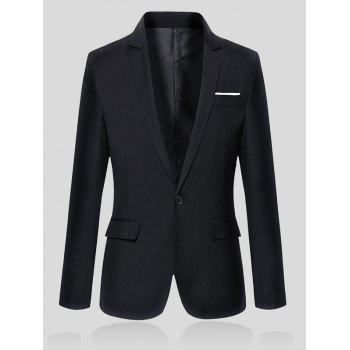 Lapel Collar Flap Pocket Slim Fit Blazer