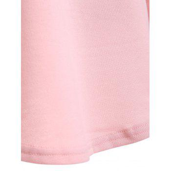 Back Cut V Neck Out Tee - PINK PINK