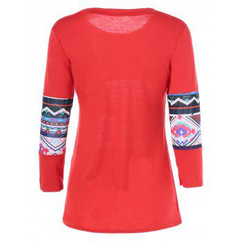 Print Long Sleeve T-Shirt - JACINTH XL