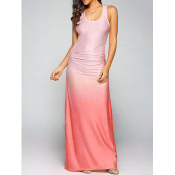 Ombre Sleeveless Racer Back Maxi Tank Dress