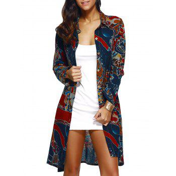 Linen Printed Shirt Coat