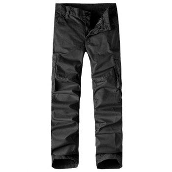 Zipper Fly Multi-Pocket Straight Leg Cargo Pants