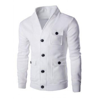 Long Sleeve Flap Patch Pocket Button Up Jacket