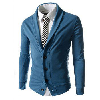 Long Sleeve Button Up Shawl Collar Jacket
