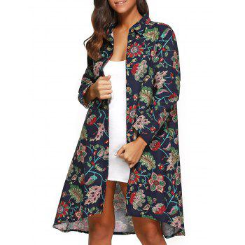 Floral Print Asymmetrical Shirt Dress
