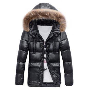 Fur Hooded Padded Duffle Coat