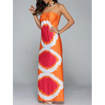 Tie Dye Beach Bandeau Tube Top Maxi Dress