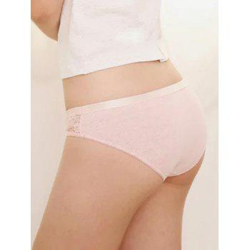 Low Waist Lace Brief - PINK PINK