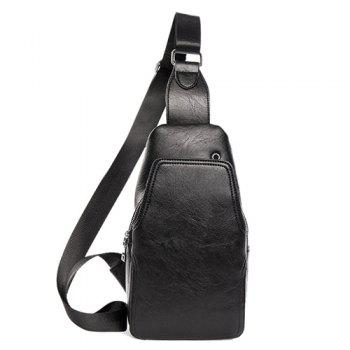 Faux Leather Chest Bag