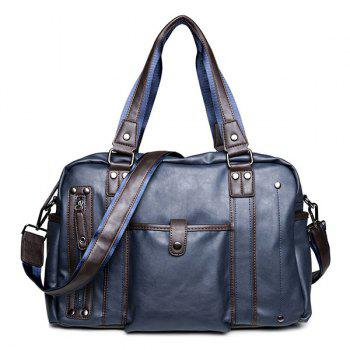 Metallic Casual Briefcase - BLUE BLUE