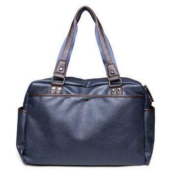 Metallic Casual Briefcase -  BLUE