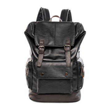 Buckle Metallic Vintage Backpack