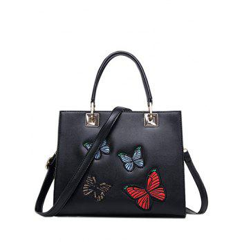 Embroidery Metal Butterfly Pattern Tote Bag