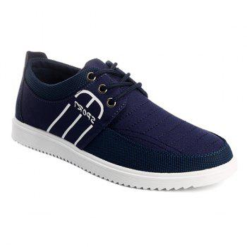 Lace-Up Splicing Stitching Casual Shoes