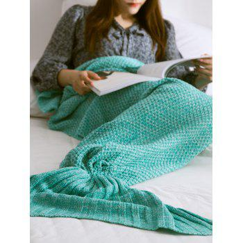 High Quality Soft Warm Knitted Mermaid Tail Blanket
