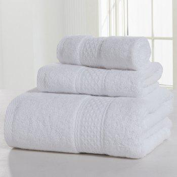 3PCS Comfortable Cotton Bath Towel Set - MILK WHITE MILK WHITE