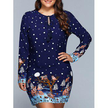 Plus Size Polka Dot Print Dress
