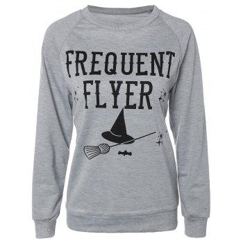 Casual Long Sleeve Letter Sweatshirt