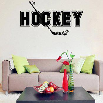 Waterproof Removable HOCKEY Word Wall Stickers