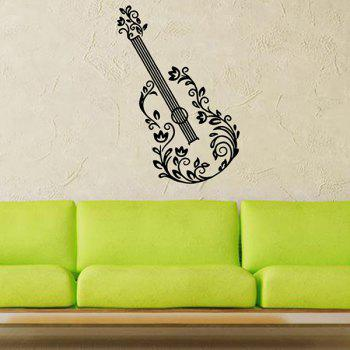 Waterproof Removable Guitar Carved Art Wall Stickers