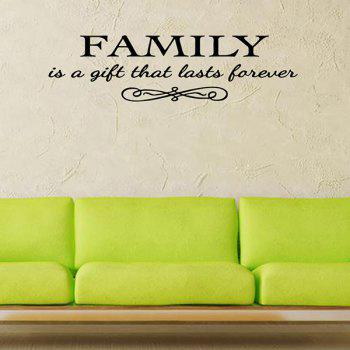 Waterproof Removable Family Proverbs Wall Stickers