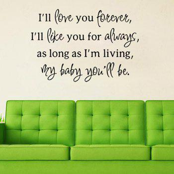 Waterproof Removable Love Proverbs Art Wall Stickers