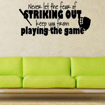 Waterproof Removable Children Room Game Letters Wall Stickers