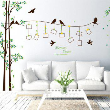 Waterproof Removable Photo Frame Tree Wall Stickers