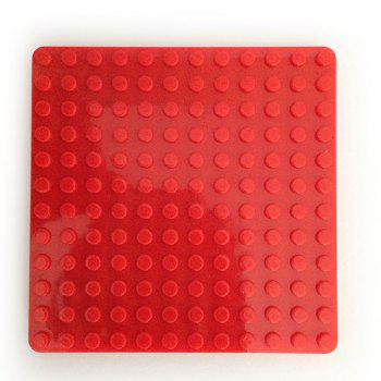4 Pieces/Set Creative Silicone DIY Building Blocks Assembled Cup Mats - COLORMIX