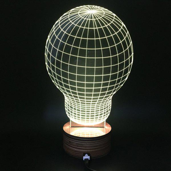 Novelty Remote Control RGB Changeable Bulb Shape 3D LED Night Light - COLORMIX